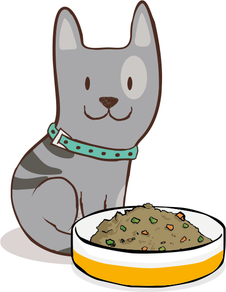 Dehydrated cat food
